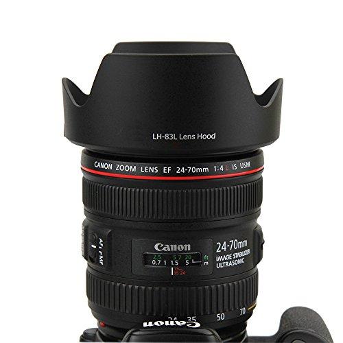 JJC LH-83L Gegenlichtblende (Streulichtblende, Sonnenblende) für Canon EF 24-70mm f/4L IS USM EW-83L