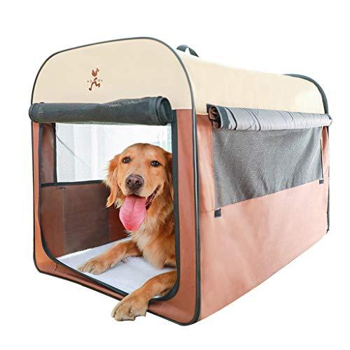 Playpens Houses & Habitats Foldable Pet House Removable Cat Room Indoor Pet Nest Four Season Pet Tent Portable Outdoor Tent Car Travel Tent Best Gift (Color : Brown, Size : 4636.540cm)