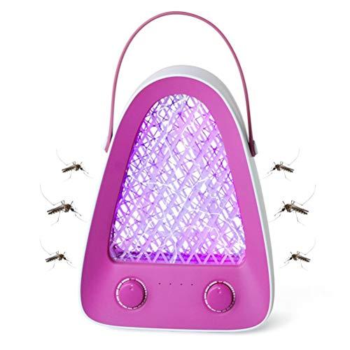 Gazaar Zanzariera Elettrica da Esternole Luce UV Lampada,Antizanzare Ricaricabile USB rappola per Mosche Lampade Zanzare Campeggio,2-in-1 Luce Zanzare a LED Illuminazione Trappola per Zanzare