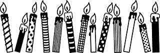 Plus 38-734 Deco Roller Stamp, Candles