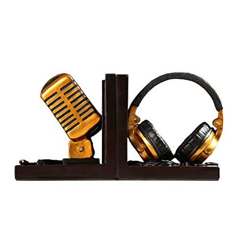 LIQIN Adornos American Creative Micrófono Modelado Adornos Escultura Sala de Estar Dormitorio Entrada Hotel Cafe Decoraciones