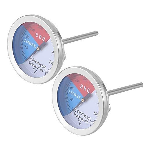Bubbry 2 stuks temperatuurregeling instrument BBQ roker grill oven thermometer