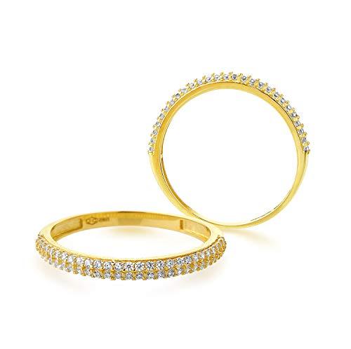 JC Trauringe Memoriering Damenring Memory Ring 585 Gold Verlobungsring in Gelbgold ME04 (58 (18.5))