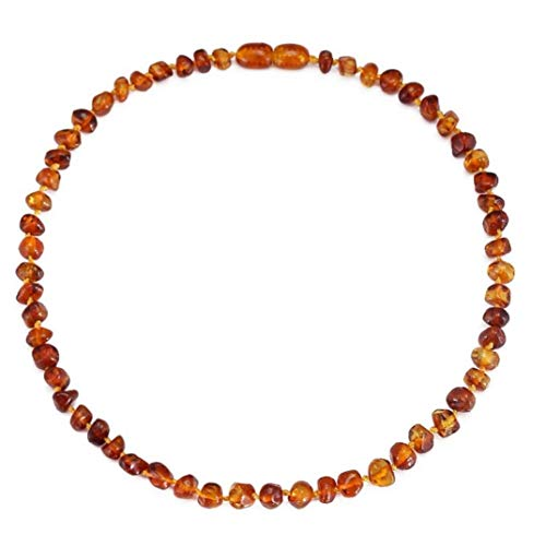 Handmade Baltic Amber Bracelet Natural Amber Teething Anklet for Baby Toddler Kids Jewelry Gift
