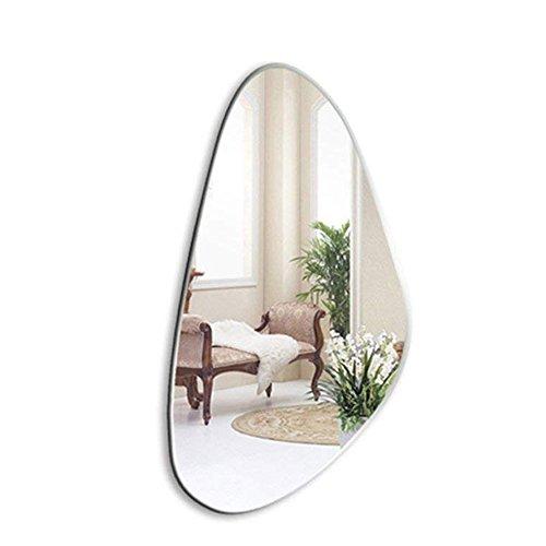YHFX Espejo de baño, Simple Espejo de Pared sin Marco, Biselado, Espejo cosmético, 52 x 100 cm, Espejos de tocador para Montar en la Pared