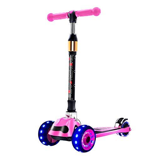 Patinetes clásicos Scooter, niños 1-3-6-12 años Niño Yo-Car Diapositiva de Pedal de Cuatro Ruedas for niños y niñas (Color : B)