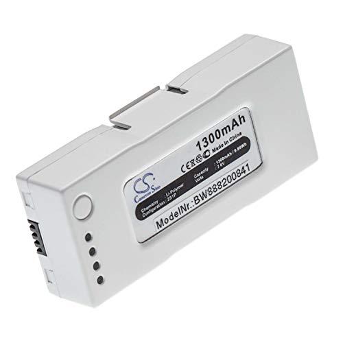 vhbw Batteria Compatibile con Zerotech D150, Dobby Pocket Selfie Drone Drone quadricottero multicottero (1300mAh, 7.6V, Li-Poly)