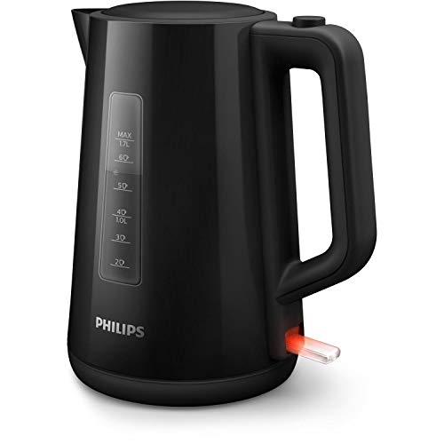 Philips HD9318/20 Wasserkocher Serie 3000, 1,7l, Federdeckel, LED-Anzeige, schwarz