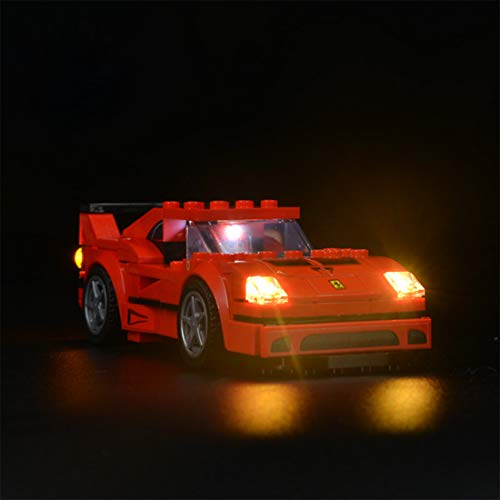 IDKII Beleuchtungsset LED-Kabel Kit für Lego 75890 Speed Champions Ferrari F40 Competizione, Lego Modell Nicht enthalten