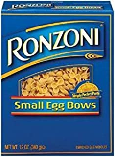 Ronzoni Small Egg Bows Enriched Egg Nooodles 12 Oz. Pack Of 3.