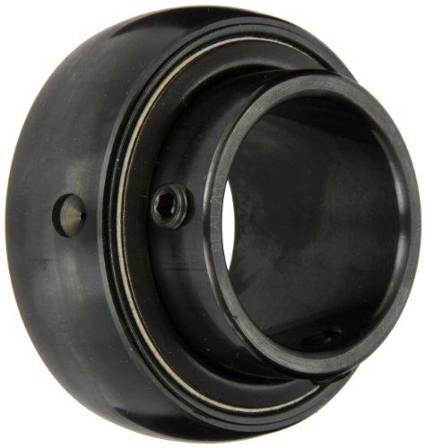 "Sealmaster 2-37 Bearing Insert, Standard Duty, Setscrew Locking Collar, Felt Seals, 3-7/16"" Bore, 150mm OD, 3-3/8"" Width, 1-15/16"" Outer Ring Width"