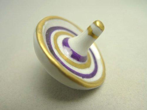箸置き 五彩こま 紫単品