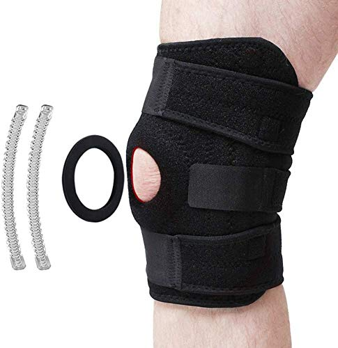 Patella Stabilizing Knee Brace with Side Stabilizers for Arthritis, Best Joint Pain Relief, Torn Meniscus Support, Injury Recovery & Prevention, Adjustable Straps Breathable Neoprene