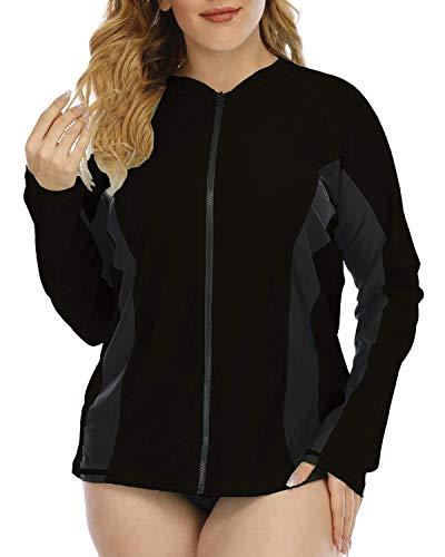 Halcurt Camiseta deportiva de manga larga para mujer con protección UV UPF...