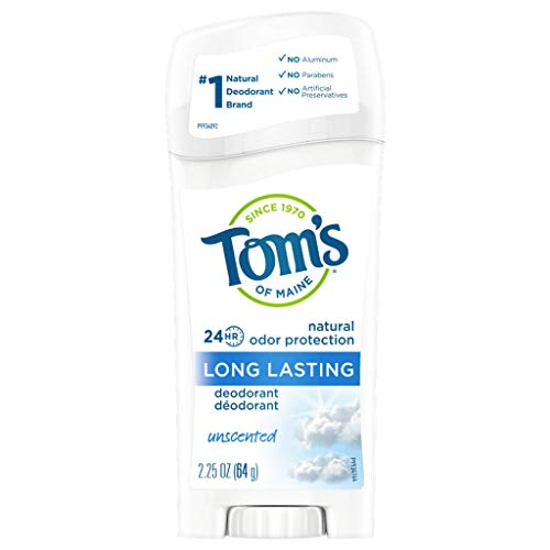 Tom's of Maine Long Lasting Deodorant Stick Unscented - USA