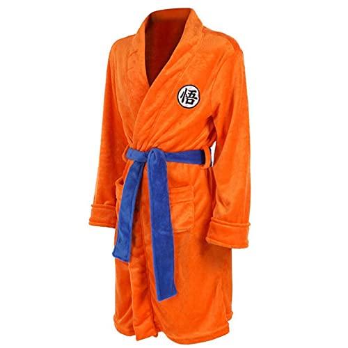 Robe de Chambre Luxe Robe Dragon Ball Robe en Coton pour Homme Peignoir en Tricot Coton léger Robe légère Robe de Chambre pour Hommes de Luxe 100% Coton