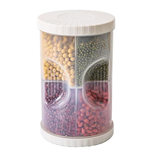 BBDA Suministros de Cocina PP plástico a Prueba de Humedad Sellado Tarro de Almacenamiento Caja de Almacenamiento Caja Grande Transparente de Cereales y Granos