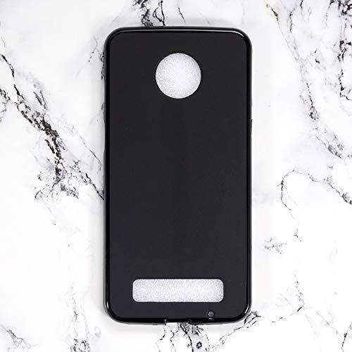 Capa para Motorola Moto Z3 Play, capa traseira de TPU macia resistente a arranhões à prova de choque de borracha de gel de silicone anti-impressões digitais Capa protetora de corpo inteiro para Motorola Moto Z3 Play (preta)