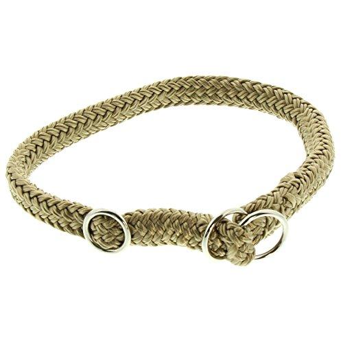 Dinoleine Hunde-Halsband/Stoppwürger, Größenverstellbar, Polyester, Größe: S/ 45 cm, Sand, 211105