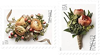 USPS Forever Stamp: Celebration Corsage and Boutonniere Combination Package (5 Sheets of each)