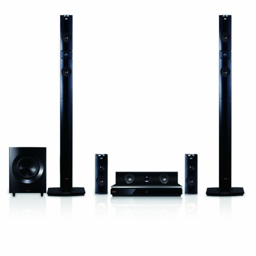 lg home theater speakers LG BH9431PW 1460W 3D Blu-Ray Theater System with Smart TV, Sound, Wireless Rear Speakers, Tall Fronts (Black Cones) (2014 Model)