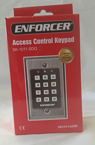 Seco-Larm SK-1011-SDQ Enforcer Access Control Keypad, Up to 1,000 Possible User Codes (4-8 Digits), Output can be Programmed to Activate for up to 99,999 Seconds (Nearly 28 Hours) (One Pack)