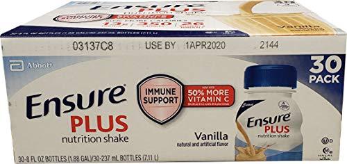 Ensure Plus Ensure Plus Nutrition Shake Vanilla 30 Pack /8.0 Fl Oz Net Wt 240 Fl Oz), 240 fl. oz.