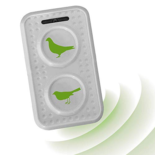 ISOTRONIC® Ultrasonic Bird Repeller device, Battery powered portable Bird Deterrent, Pigeon Scarer - Pack of 1 Pcs.