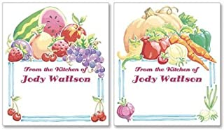 Nature's Goodness Personalized Canning Labels- Set of 96 Large Self- Adhesive, Flat Sheet, Can and Jar Labels, By Colorful Images