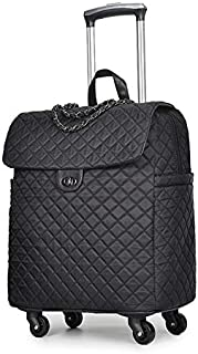 Luggage Portable Trolley Travel Backpack Travel Bag with Wheels Women Handbag Lightweight Large Capacity Suitcase Carry-on Bags (Color : A)