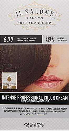 Il Salone Milano Permanent Hair Color Cream - 6.77 Light Chocolate Brunette Hair Dye - Professional Salon - Premium Quality - 100% Gray Coverage - Paraffin Free - Paraben Free - Moisturizing Oils