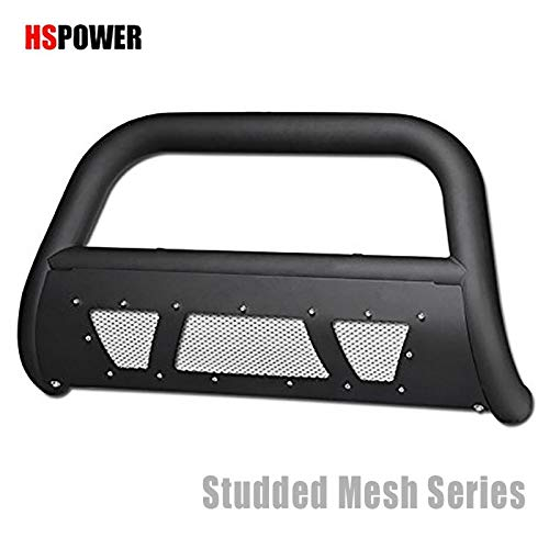HS Power Matte Black Studded Laser Mesh Push Bar