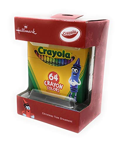 2018 Hallmark Crayola 64 Crayon Colors Exclusive Christmas Tree Ornament