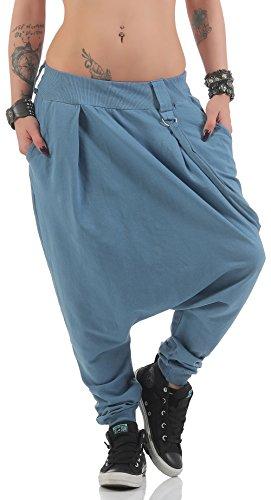 malito dames broek met laag kruis | Joggingbroek in effen kleuren | Baggy om te dansen | Sweatpants - Aladdinbroek 91086