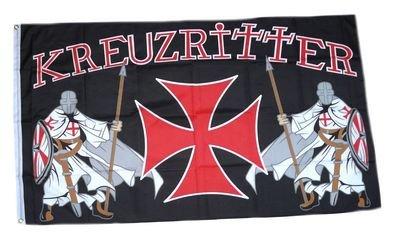 FLAGGENMAE Flagge Fahne Kreuzritter Templer 90 x 150 cm