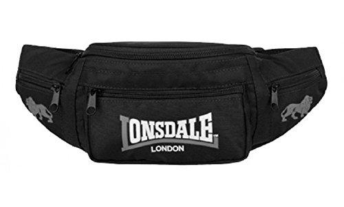 Lonsdale Hip Bag Gürteltasche Bumbag 90409 (black/grey)