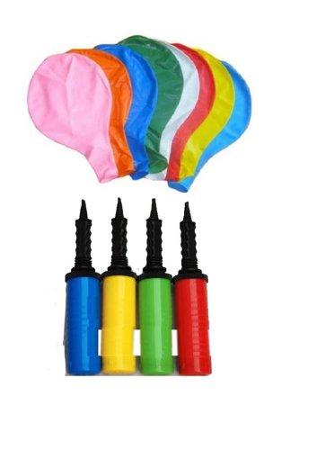 度胸試し ジャンボ 風船 バルーン 8色 飾り付け ポンプ セット