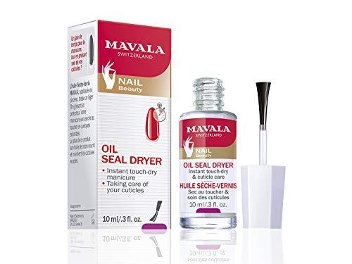 Mavala Oil Seal Dryer Aceite Secante Instantáneo de Uñas con Aceite de Algodón y Vitamina E, Anti-Oxidante, 10 ml