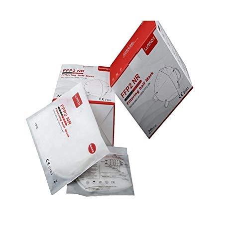 Luyao Atemschutzmasken FFP2, CE-zertifiziert, ohne Schutzventil, atmungsaktiv, 20 Stück - 6