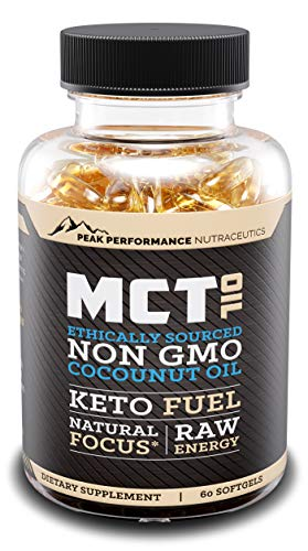 MCT Oil Keto Softgels with Organic Coconut Oil to Boost Metabolism, Jump Start Ketosis and Skyrocket Energy. All Natural, Non-GMO, Gluten Free Premium Ingredients for Maximum Results. 60 Capsules