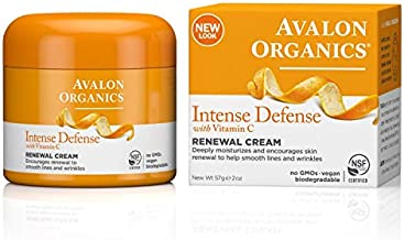 Avalon Organics Intense Defense Renewal Cream, 2 oz. (Pack of 2)