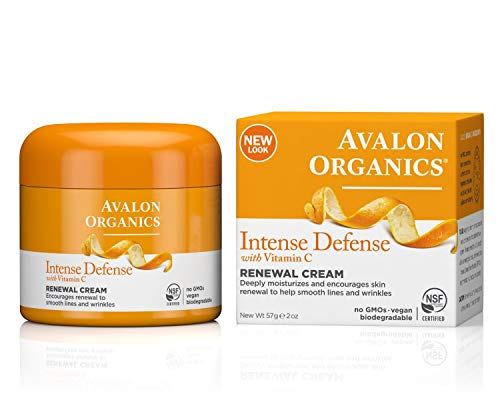 Avalon Organics Intense Defense Renewal Cream, 2 oz. (Pack of 2)