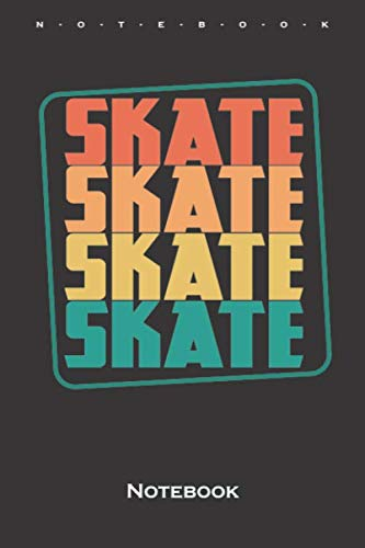 skate skating Notebook: Dot Grid Journal/Logbook for all lovers and fans of the fast sport on wheels