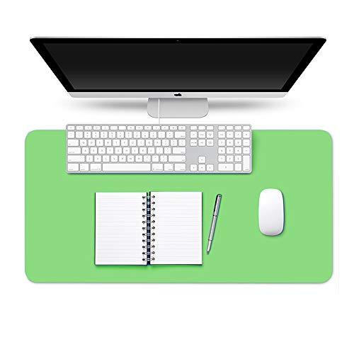 Desk Pad Protector Writing Mat, Non-Slip PU Office Desk Mat Waterproof Mouse Pad Table Pad Easy Clean Desk Blotter Child Writing Pad Desk Décor for Office Home, Green 23.6' x 15.7'