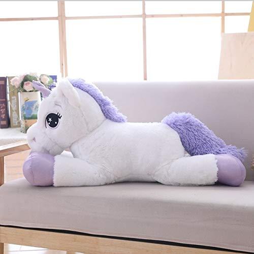 CGDX 80 cm / 100 cm Bianco Unicorno Giocattoli di Peluche Unicorno Gigante farcito Animale Cavallo Giocattolo Morbido Unicorno Bambola Regalo per Bambini Puntelli Foto 80 cm Bianco