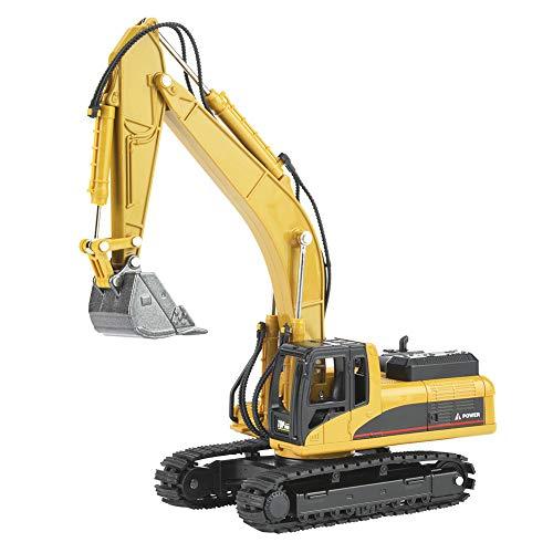 Haokaini Juguetes de Construcción de Camiones de Juguete Excavadora Juguetes de Excavadora para Niños Juguetes de Tractor para Niños a Escala 1:50 Grandes Juguetes para Niños Pequeños para