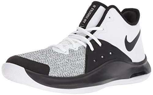 Nike Air Versitile III, Zapatos de Baloncesto Unisex Adulto, Multicolor (White/Black/Dark Grey 100), 44.5 EU