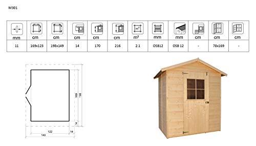 TIMBELA M301 Gartenhaus 198 x 149 cm