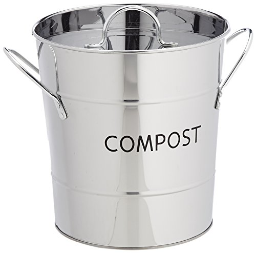 Eddingtons Seau à compost anti-odeurs Inox