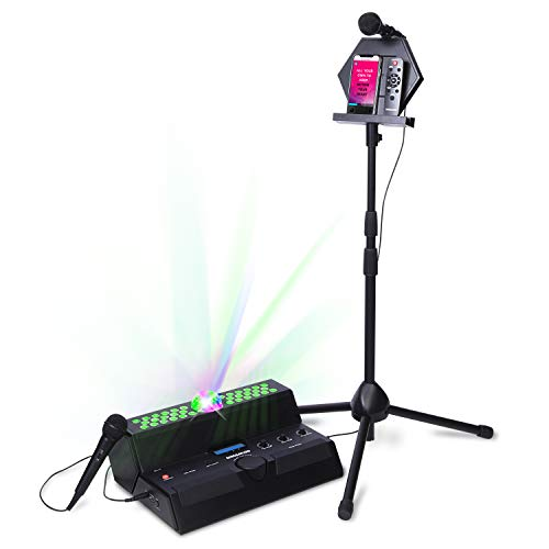 Singsation Karaoke Machine - Main Stage All-In-One Premium Karaoke Party System w/Vocal, Sound & Light Effects, Two Mics & Sound System